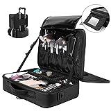 Travel Makeup Case, Luxspire Multilayer Cosmetic Makeup Train Case Portable Makeup Bag Large...