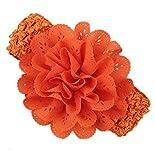 Pikaboo Crochet Cutwork Flower Baby Headband (Orange)