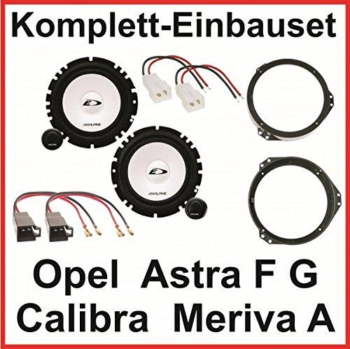 Lautsprecher Set Astra F G Calibra Meriva A ALPINE SXE-1750S 2 Wege System vorne