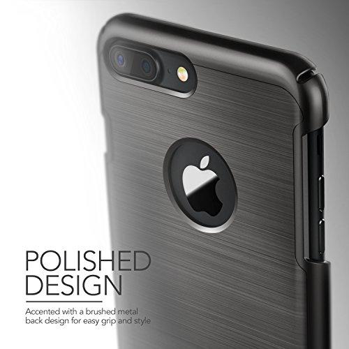 iPhone 7 Plus Hülle, VRS Design [Simpli Lite Serie] Minimalistisch Schlanke und Schwerlast Schutz mit Klappständer für Apple iPhone 7 Plus 2016 - Rose Gold Titan Schwarz