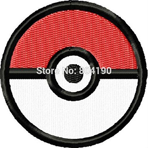 coolpart 7,6 cm Pokemon Pokeball Comics TV Film bestickt Emblem Punk Rockabilly Aufnäher Nähen auf/Eisen auf Patch perfekt (Tombstone Funny Quotes)