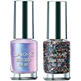 Lakmé Color Crush Nailart, U4, 6ml & Lakmé Color Crush Nailart, G12, 6ml