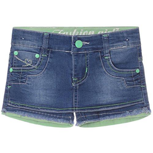 Mädchen Capri Hot Parts Hose 21396, Farbe:Grün;Größe:116 (Kinder Jeans Grün)