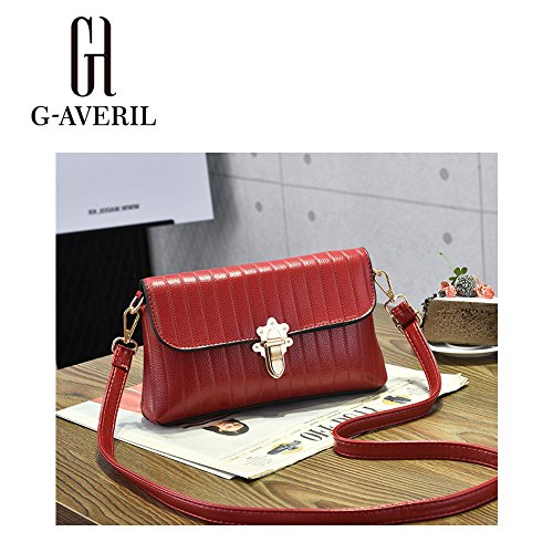 G-AVERIL, Borsa a mano donna Verde Green Wine red