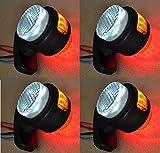 VNVIS 4 x luci di posizione laterali arancione bianco rosso 12 V 24 V LED lampada per camion caravan campeggio camion rimorchio