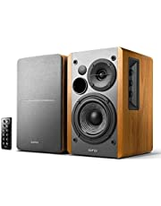 Edifier R1280DB Powered Bluetooth Bookshelf Speakers with Wireless Studio Monitors and 4-inch Near Field Speaker(Brown)