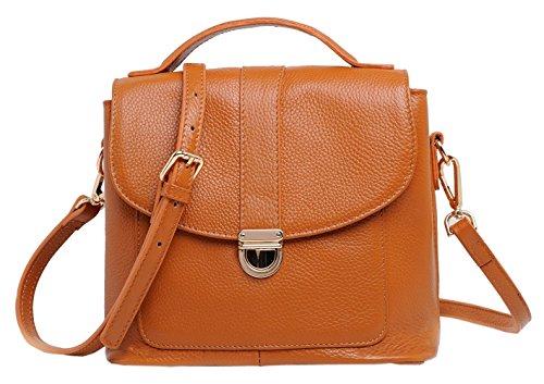 SAIERLONG Neues Damen Lila Rindleder-Echtes Leder Damen Handtaschen Schultertaschen Braun