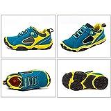 SAGUARO Jungen Trekking Wanderschuhe Kinderschuhe mit Klettverschluss Leicht Sport Schuhe Outdoor Laufschuhe Mädchen Turnschuhe Sneaker, Blau 36 - 3