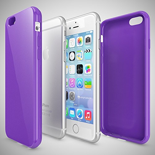 iPhone 6 Plus 6S Plus Coque Silicone de NICA, Ultra-Fine Housse Protection Cover Slim Premium Etui Mince Telephone Portable Gel Case Bumper Souple pour Apple iPhone 6S+ 6+ Smartphone - Rouge Lilas