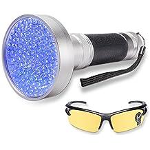 WOLFWILL Torcia Ultravioletta LED Rilevatore Luce per Macchia e Urina Animale Trovare Macchie su Abbigliamento Moquette e Tappetti Blacklight