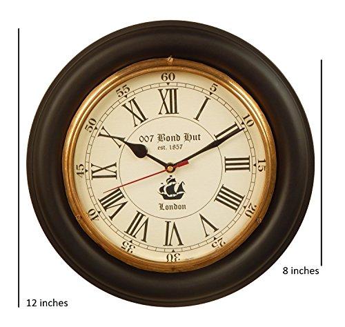12 inch size Wooden antique clock/nautical clock/brass clock