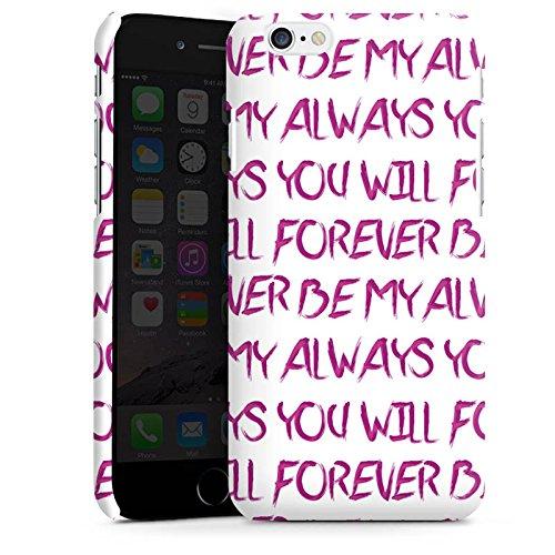 Apple iPhone X Silikon Hülle Case Schutzhülle Spruch Liebe Herz Forever Premium Case matt