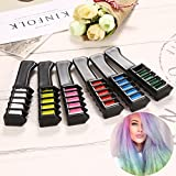 Temporary Hair Chalk Comb Color -Hair Chalk For All Hair Colors For Kids Hair Dyeing Party And Cosplay DIY, 7...