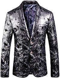 HaiDean Abito da Uomo Classico Slim da Fit Uomo Casual Moderna Blazer Party  Print Suit Giacche e614dba6760