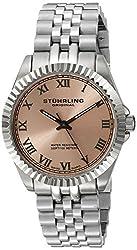 (CERTIFIED REFURBISHED) Stuhrling Original Symphony Lady Coronet Analog Pink Dial Womens Watch - 599L.03