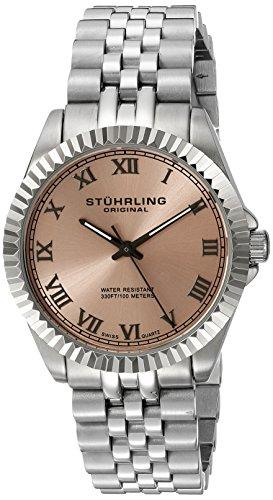 Stuhrling 599L.03 - Orologio da polso da donna, cinturino in acciaio inox colore argento
