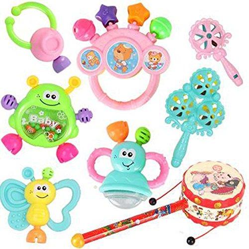 Color al azar juguetes educativos Juguetes para bebés 3-6-12 meses Bebé traqueteos