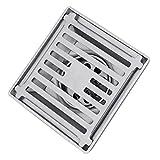 non-brand MagiDeal Edelstahl Duschrinne/Bodenablauf/Duschablauf mit Abnehmbar eingebautes Sieb für Dusche Badezimmer Küche, 11.5x11.5x6cm