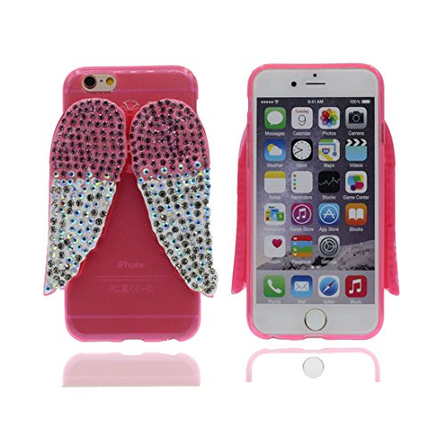 "Étui pour iPhone 7 plus, Slim (TPU Silicone Transparent Flexible) avec Petits Diamants Cristallins Retour coque pour iPhone 7 plus 5.5"" ailes ,iPhone 7 plus case color 3"