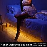 Bewegung aktiviert Bett Licht, GOCHANGE Flexible LED Streifenlicht, Auto Ein/Aus Bewegungsmelder Nachttischlampe, Bewegung aktivierte LED-Lichtleiste (zwei Sensor Kit)