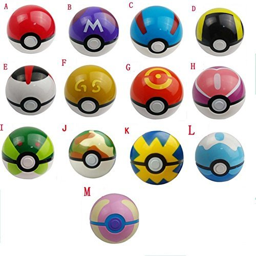 POKEMON - SET 13 POKEBALLS / POKEBOLAS / 13 POKE BALLS SET 7,5cm