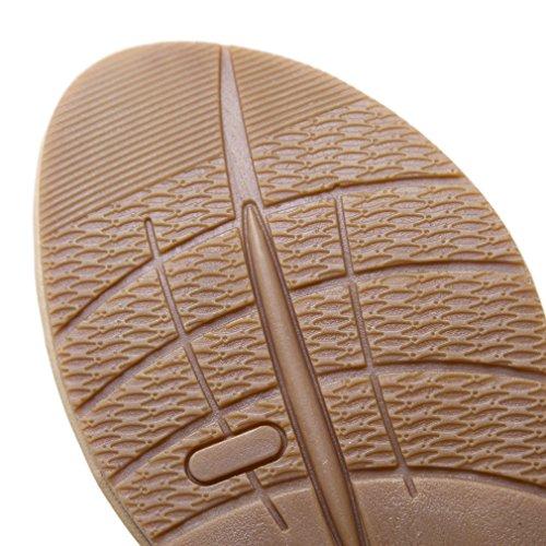 YoungSoul Damen Flach Sandalen mit Metallicverzierung Zehentrenner Sommer Flip Flops Bequeme Sandaletten Knöchelriemchen Schwarz