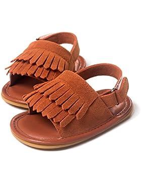 Indian Shoes–Sandalias con flecos niña de 0a 18meses 0/6Meses, 6/12Meses, 12/18Meses