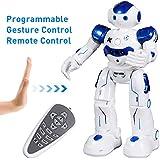 SGILE Kids Remote Control Robot Toy - Programmable Interactive Gesture Sensing Robot Kit, Dancing Walking Singing Smart Robotics - RC LED Combat Fun Robotic Birthday Gift for Kids