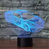 Porsche Auto 3D Licht LED Acryl visuelle Licht Touch Illusion Licht, USB, Fernbedienung