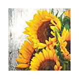 Home Fashion 20er Pack Servietten Sonnenblumen Gelb 33x33cm Papier