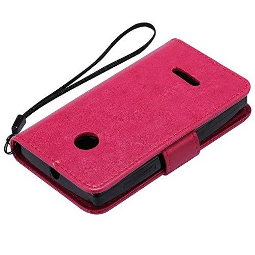 Nokia Lumia N435 Case, Embossing gepresst Blumen Katze und Baum Muster Solid Color PU-Leder Tasche weichen Silikon-Cover Flip-Stand Geldbörse mit Lanyard für Nokia N435 ( Color : 13 , Size : Nokia N43 7