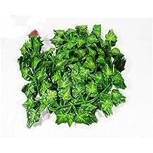 72 piedi-12 grande valore artificiale falso appeso pianta foglie Garland casa giardino parete decorazione inglese Ivy seta verde ghirlande matrimonio - Fiore Di Seta Accenti