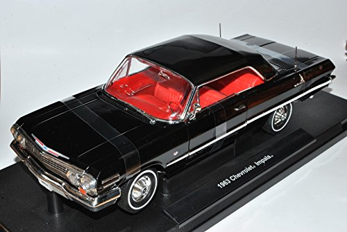 chevrolet-impala-coupe-schwarz-1963-1-18-welly-modell-auto
