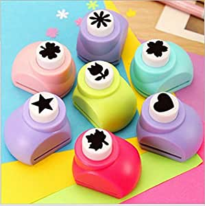 Lukzer Scrapbook Craft Paper Punch, Handmade Cutter to Make School Projects Attractive for Students.(Set of 3) (Design May Vary)