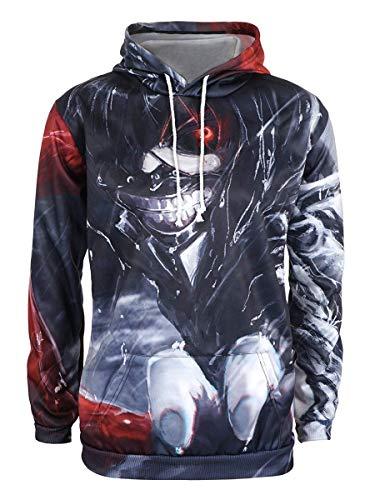 CoolChange Tokyo Ghoul Kapuzen Pullover im Ken Kaneki Design Größe: XL