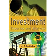 Investment: Theories and Analyses by Dr Michelle Baddeley (2003-04-14)