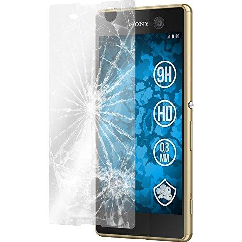 2 x Glas-Folie klar für Sony Xperia M5 PhoneNatic Panzerglas für Xperia M5