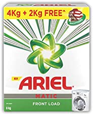 Ariel Matic Front Load Detergent Washing Powder - 4 kg with Free Detergent Powder - 2 kg