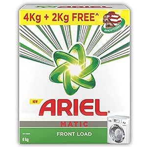 Ariel Matic Front Load Detergent Washing Powder - 4 kg with Free Detergent Powder - 2 kg - Pantry