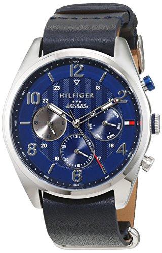 Tommy Hilfiger - 1791187 - Montre Homme - Quartz - Analogique - Bracelet Cuir Bleu