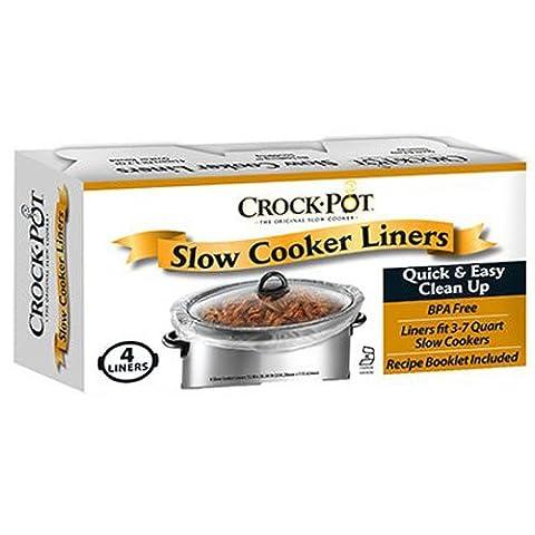 JARDEN HOME BRANDS - Crock Pot Slow Cooker Liners, 3-7-Qt., 4-Ct.