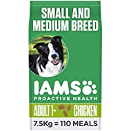 Iams ProActive Health Complete and Balanced Dog Food with Chicken for Small and Medium Breeds, 7.5 kg