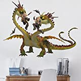 Bilderwelten Wandtattoo Dragons Raffnuss und Taffnuss mit Kotz und Würg, Sticker Wandtattoos Wandsticker Wandbild, Größe: 105cm x 140cm