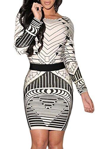Valin Deman Mehrfarbige SY21723 vintage Kleid Mehrfarbige