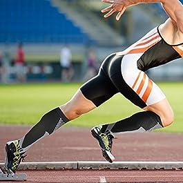 5 paia Calze a compressione per uomini e donne (20-30 mmhg), Ottime per il miglioramento delle prestazioni sportive, corsa, resistenza, recupero, circolazione e viaggi in aereo