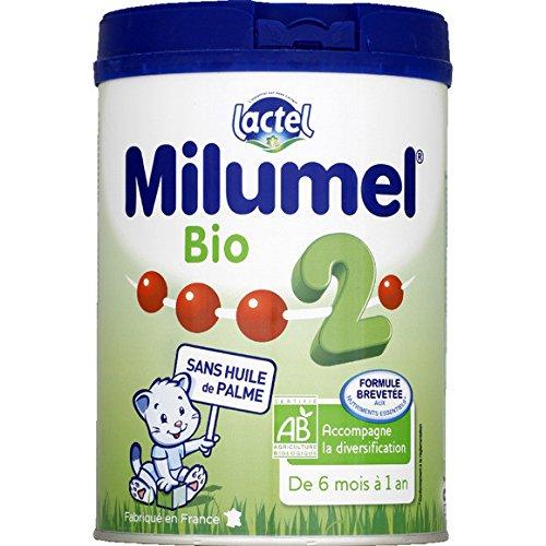 milumel Lait Bio 2me âge, de 6 mois a 1 an , sans huile de palme ( Prix unitaire ) - Envoi Rapide Et Soignée