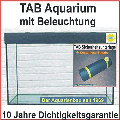 Zoo-Center-Tausz TAB Aquarium Kombination mit Beleuchtung/Aquarium 200x60x60 cm / 720L. / Glas 12mm / Bel. 2x80 Watt