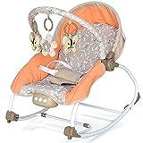 Babyschaukel Babywippe mit Feststellfunktion Kinder bis 18kg Musik, Vibration, Licht, Animalfun