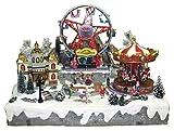 25 twentyfive Villaggio Natalizio con giostra e Luna Park in Movimento, luci, Musica (60 x 48 x 49 cm)