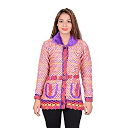 ahhaaaa Women's Wool Quilted Cardigan (PRL674_Purple_XS)